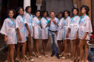 Les candidates à l'élection de miss Las Terrenas....
